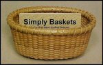 Oval Business Card Nantucket Basket