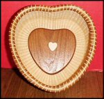 Ivory Heart Nantucket Basket